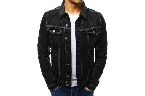 BASIC Pánská černá bunda (tx1162) velikost: S, odstíny barev: černá Pánské bundy a kabáty