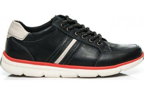 MAZARO SPORTOVNÍ ČERNÉ POLOBOTKY KOŽENÉ -  SD63-1B velikost: 41, odstíny barev: černá Pánská obuv