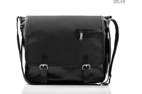 SOLIER Pánská černá taška přes rameno (S12 Carbon) velikost: univerzální, odstíny barev: černá Pánské tašky