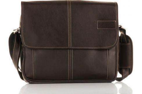 Hnědá taška přes rameno Solier (S15 BROWN) Velikost: univerzální Pánské tašky