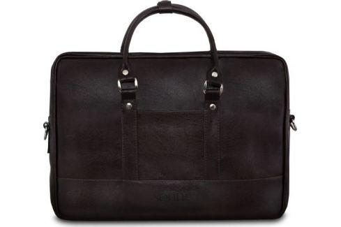 SOLIER Hnědá pánská taška přes rameno (S04 DARK BROWN) Velikost: univerzální Pánské tašky