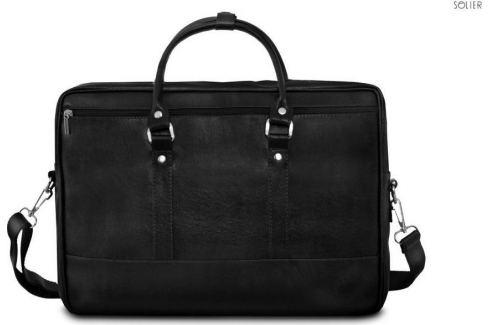 SOLIER Pánská černá taška přes rameno (S04) velikost: univerzální, odstíny barev: černá Pánské tašky