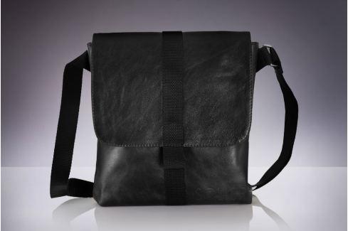 PÁNSKÁ ČERNÁ TAŠKA PŘES RAMENO SOLIER (SL31 BLACK) Velikost: univerzální Pánské tašky