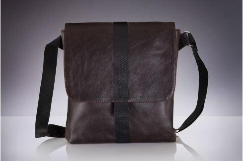 Pánská hnědá taška přes rameno Solier (Messel SL31) velikost: univerzální, odstíny barev: hnědá Pánské tašky