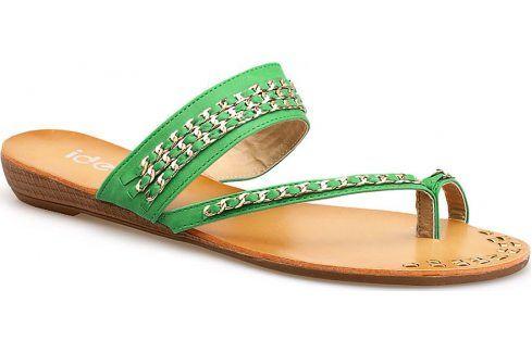 Dámské mátové žabky 9820 velikost: 40, odstíny barev: zelená Dámská obuv