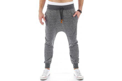 BASIC Pánské šedé tepláky baggy (ux0220) velikost: XL, odstíny barev: šedá Pánské kalhoty