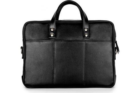 SOLIER KOŽENÁ ČERNÁ TAŠKA (SL04 BLACK) Velikost: univerzální Pánské tašky