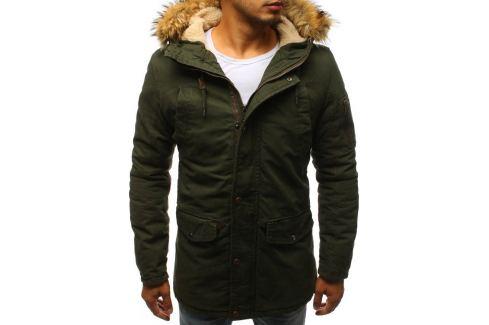 BASIC Zelená pánská parka (tx2371) Velikost: XL Pánské bundy a kabáty