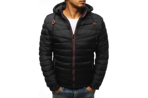BASIC Černá prošívaná zimní bunda s kapucí (tx2385) Velikost: 3XL Pánské bundy a kabáty