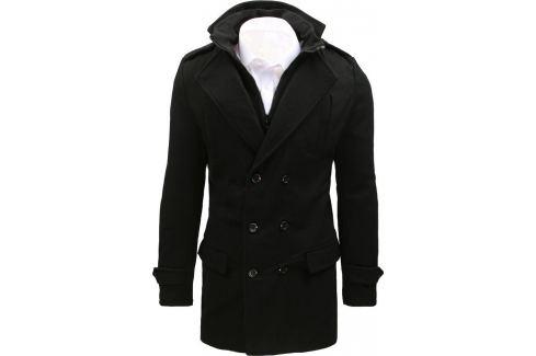 BASIC Pánský elegantní kabát  (cx0392) Velikost: S Pánské bundy a kabáty