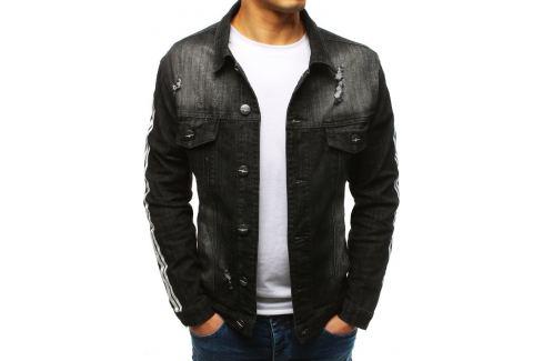 BASIC Černá pánská džínová bunda (tx2635) Velikost: L Pánské bundy a kabáty