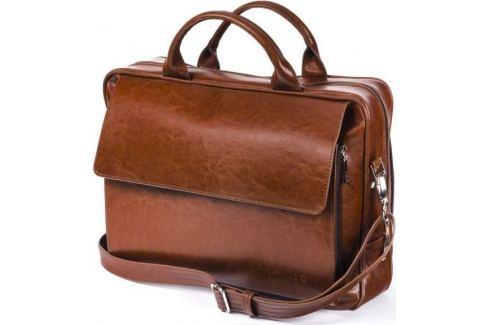 SOLIER KOŽENÁ HNĚDÁ TAŠKA NA NOTEBOOK (SL30 VINTAGE  BROWN) Velikost: univerzální Pánské tašky