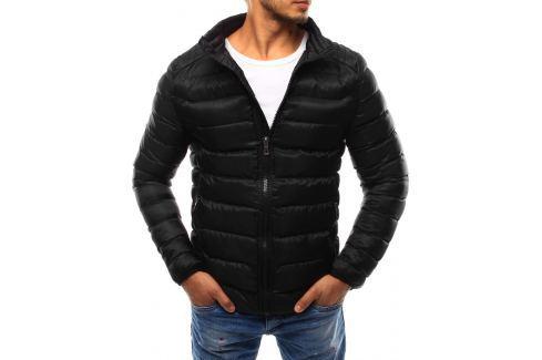 BASIC Pánská černá bunda bez kapuce (tx1733) velikost: 2XL, odstíny barev: černá Pánské bundy a kabáty