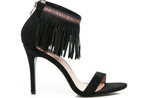 BASIC ČERNÉ BOHO SANDÁLY -  628-126B velikost: 40, odstíny barev: černá Dámská obuv