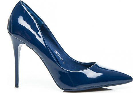 BASIC LAKOVANÉ MODRÉ LODIČKY PASSION -  G6231-5N velikost: 36, odstíny barev: modrá Dámská obuv