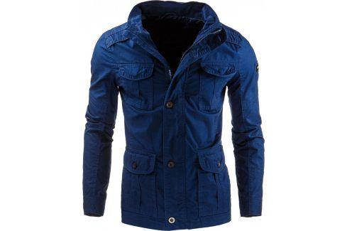 BASIC Jarní/podzimní modrá bunda (tx1198) velikost: M, odstíny barev: modrá Pánské bundy a kabáty