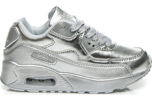 VICES Dívčí stříbrné tenisky -  B760S velikost: 30, odstíny barev: stříbrná Dětská obuv