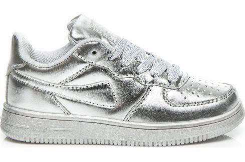RAPTER Stříbrné tenisky -  B758S velikost: 30, odstíny barev: stříbrná Dětská obuv