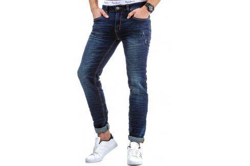 BASIC Pánské modré džíny (ux0085) velikost: 29, odstíny barev: modrá Pánské kalhoty
