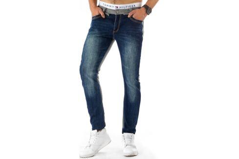 BASIC Pánské modro-šedé džíny joggery (ux0279) velikost: 34, odstíny barev: modrá Pánské kalhoty