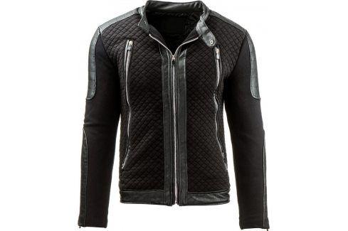 BASIC Černá bunda jaro/podzim (tx1202) velikost: S, odstíny barev: černá Pánské bundy a kabáty