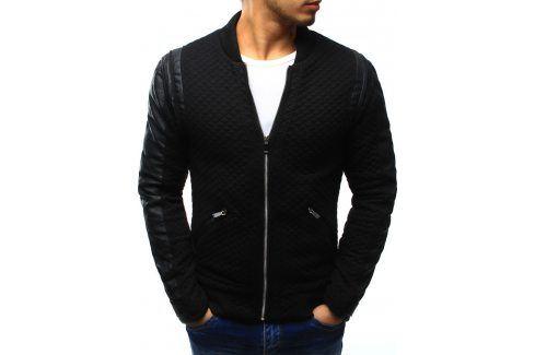 BASIC Černá bunda jaro/podzim (tx1204) velikost: S, odstíny barev: černá Pánské bundy a kabáty