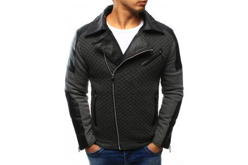 BASIC Antracitová bunda jaro/podzim (tx1205) velikost: 2XL, odstíny barev: šedá Pánské bundy a kabáty