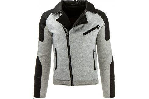BASIC Šedá bunda jaro/podzim (tx1209) velikost: S, odstíny barev: šedá Pánské bundy a kabáty