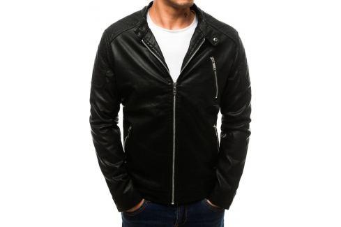 BASIC Pánská černá koženková bunda (tx2710) Velikost: M Pánské bundy a kabáty