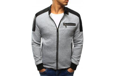 BASIC Šedá bunda jaro/podzim (tx1214) velikost: 2XL, odstíny barev: šedá Pánské bundy a kabáty