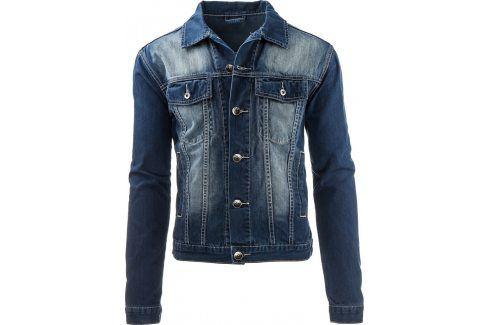 BASIC Džínová bunda (tx1219) velikost: S, odstíny barev: modrá Pánské bundy a kabáty