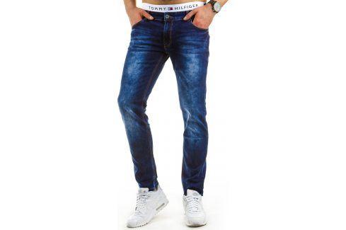 BASIC Pánské modré džíny (ux0641) velikost: 30, odstíny barev: modrá Pánské kalhoty