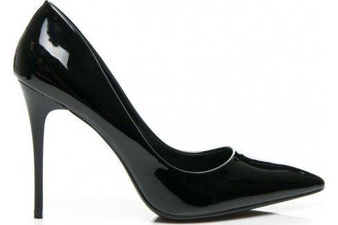 BASIC LAKOVANÉ ČERNÉ LODIČKY  -  G6231-5B velikost: 36, odstíny barev: černá Dámská obuv
