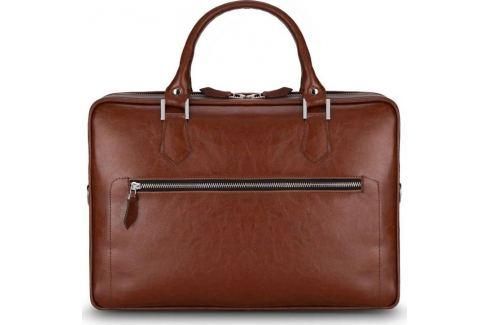 HNĚDÁ KOŽENÁ TAŠKA SOLIER  (SL23 VINTAGE BROWN) Velikost: univerzální Pánské tašky