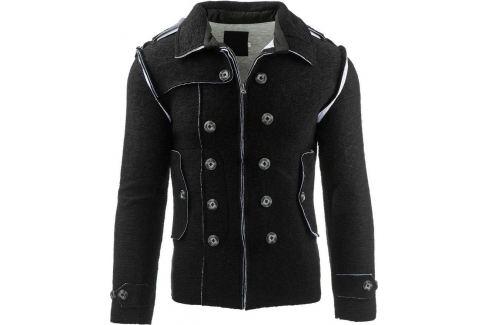 BASIC Pánská černá bunda (tx1225) Velikost: S Pánské svetry a roláky