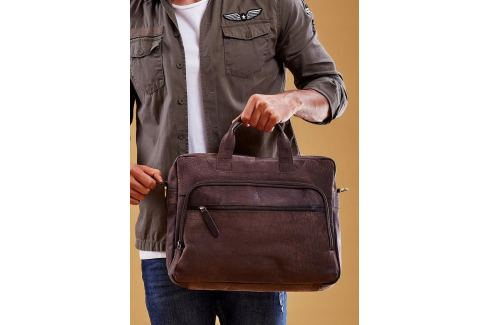 ALWAYS WILD Luxusní kožená taška na notebook LAP513 CBH BROWN Velikost: univerzální Pánské tašky
