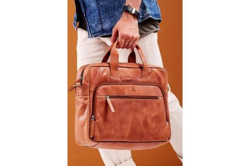 ALWAYS WILD Luxusní kožená taška na notebook LAP513 CBH COGNAC Velikost: univerzální Pánské tašky