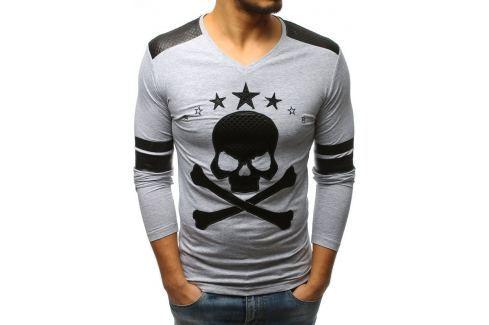 BASIC Šedé tričko (lx0379) Velikost: S Pánská trička