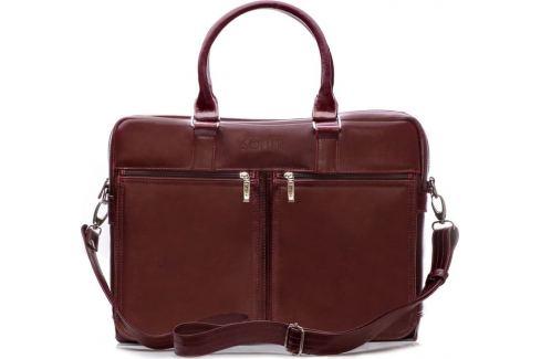 Pánská kožená bordová taška SOLIER (SL01 BROWN-MAROON) Velikost: univerzální Pánské tašky