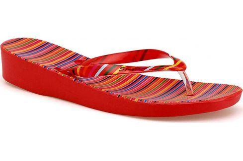 Pěnové červené žabky SS-L4666 velikost: 41, odstíny barev: červená Dámská obuv