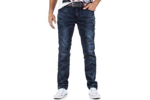 BASIC Pánské námořnické džíny (ux0323) velikost: 30, odstíny barev: modrá Pánské kalhoty