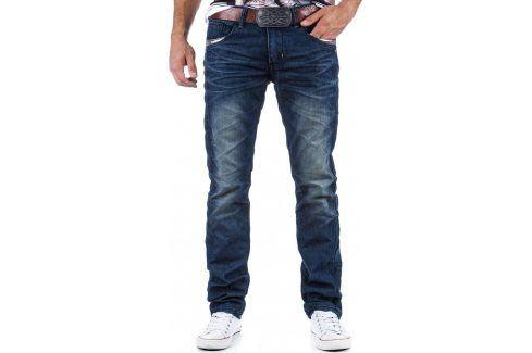 BASIC Pánské modré džíny (ux0324) velikost: 28, odstíny barev: modrá Pánské kalhoty