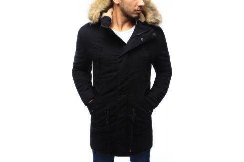 BASIC Pánská zimní parka s kožichem (tx2024) velikost: XL, odstíny barev: černá Pánské bundy a kabáty
