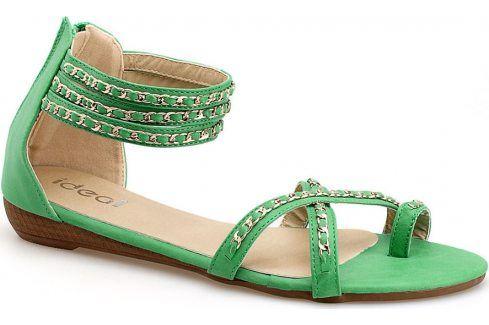 Zelené sandály V9822 velikost: 37, odstíny barev: zelená Dámská obuv