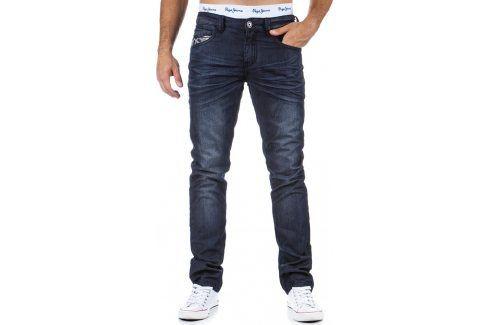 BASIC Pánské námořnické džíny (ux0326) velikost: 28, odstíny barev: modrá Pánské kalhoty