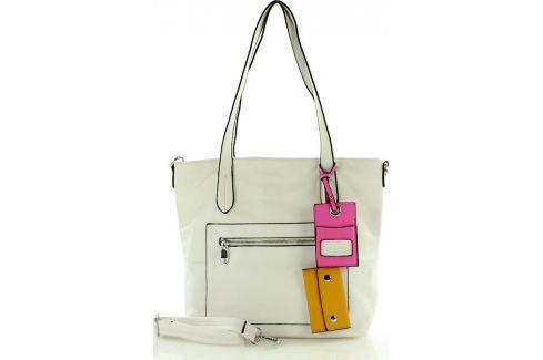 Bílá nákupní taška FURRINI (e287c) Velikost: univerzální Kabelky