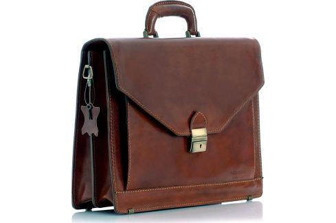 VEROSTILO PÁNSKÁ HNĚDÁ KOŽENÁ AKTOVKA MARTINO (30B) Velikost: univerzální Pánské tašky