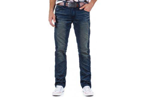 BASIC Pánské modré džíny (ux0330) velikost: 28, odstíny barev: modrá Pánské kalhoty