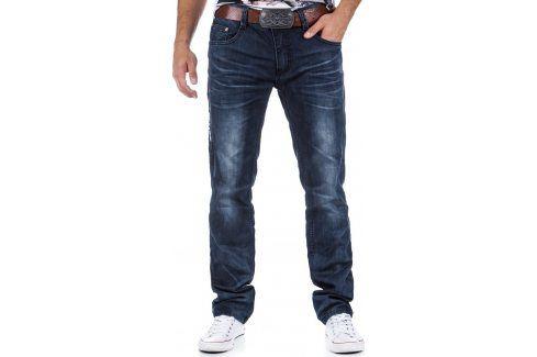 BASIC Pánské námořnické džíny  (ux0331) velikost: 30, odstíny barev: modrá Pánské kalhoty