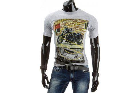 BASIC Pánské tričko (rx0963) velikost: M, odstíny barev: šedá Pánská trička